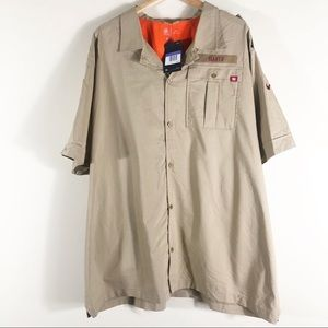 Nike NWT New York Giants Beige Men's Button Down